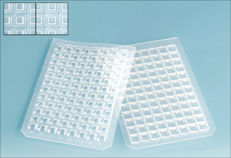 Silicone Sealing Mats for 96 Square Well Microtitration Plates w/ PTFE Coating