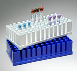 Test Tube Rack, Blue SmoothRack Polypro