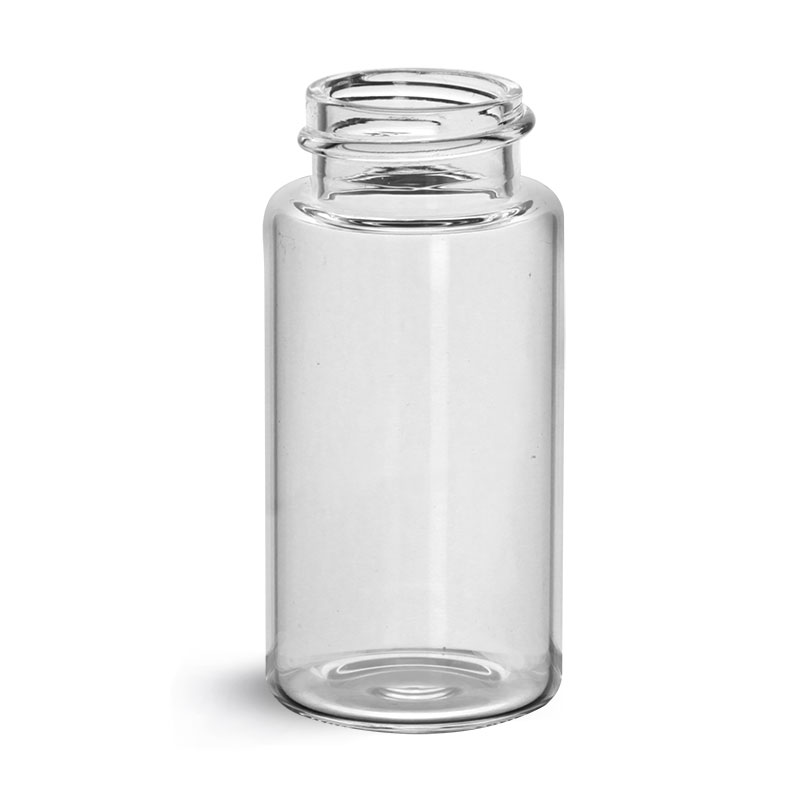Glass Lab Vials, Clear Glass Scintillation Vials w/ No Caps Included