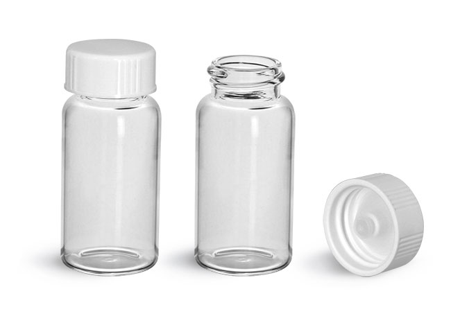 Scintillation Vials, Glass Scintillation Vials w/ White Polyseal Cone Lined Urea Caps