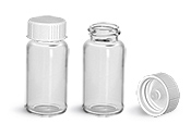 Sample Containers, Glass Scintillation Vials w/ White Polyseal Cone Lined Urea Caps