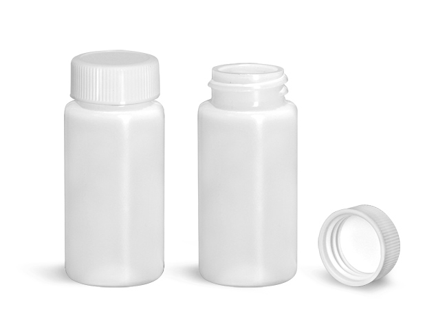 Scintillation Vials, Natural HDPE Scintillation Vials w/ PE Lined Polypro Caps