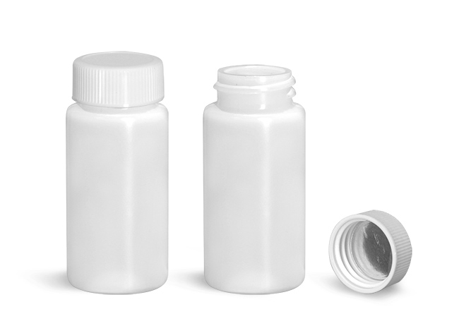 Scintillation Vials, Natural HDPE Scintillation Vials w/ Metal Foil Lined Polypro Caps