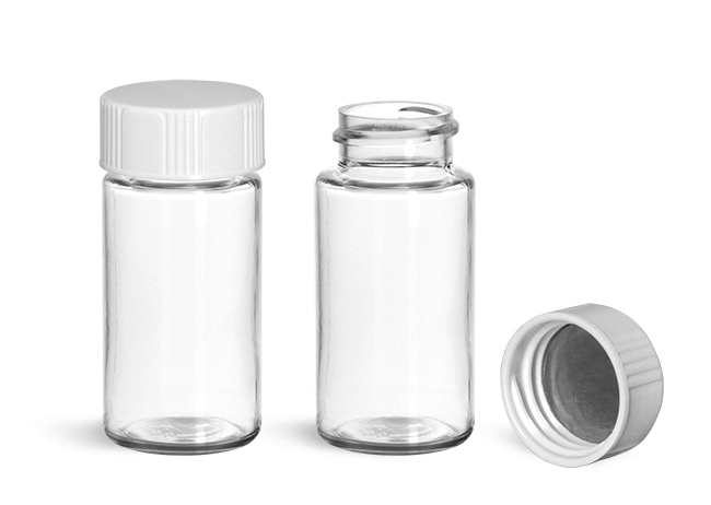 Scintillation Vials, Clear PET Scintillation Vials w/ Metal Foil Lined Urea Caps