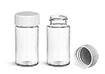 Sample Containers, Clear PET Scintillation Vials w/ Metal Foil Lined Urea Caps