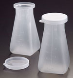 Sample Containers, 170 ml Natural PP Specimen Bottles and Snap Caps