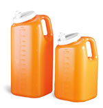 Lab Bottles, 24 Hour Urine Collection, Polypropylene Orange Bottle, Spout Cap