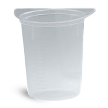 Tricorn Plastic Disposable Beakers