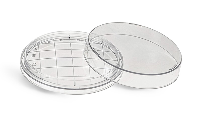 Plastic Petri Dishes, Clear Polystyrene Sterile Contact Plates