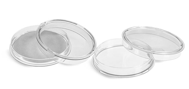 Plastic Petri Dishes, Clear Polystyrene Petri Dishes w/ Absorbant Pads