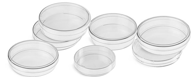 Plastic Petri Dishes, Clear Polystyrene Sterile Petri Dishes
