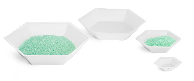 Polystyrene Anti-static Hexagonal Weighing Dishes