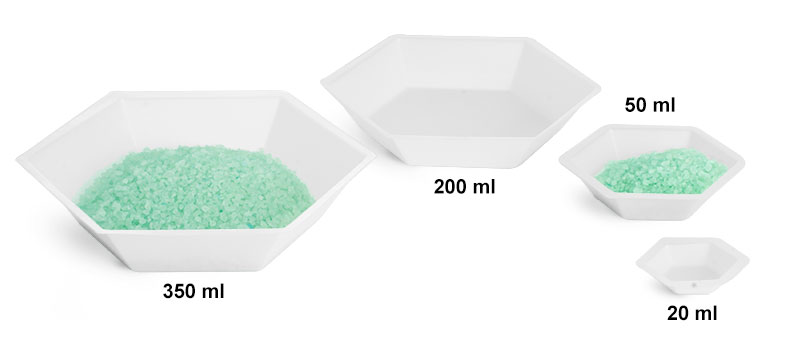 Weighing Dishes, Polystyrene Anti-static Hexagonal Weigh Dishes