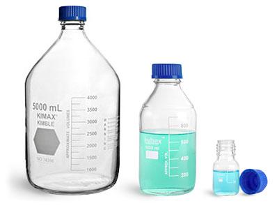 Graduated Glass Media Bottles