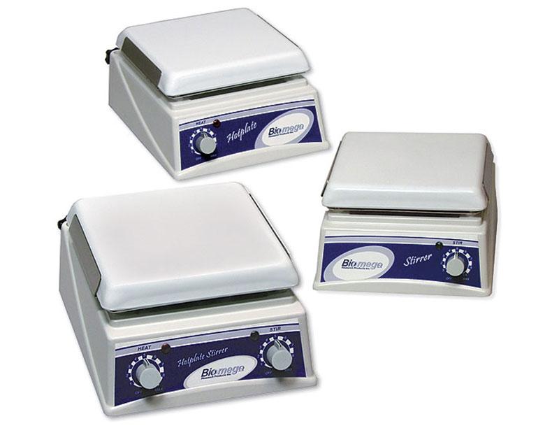 Laboratory equipment biomega hotplates magnetic stirrers
