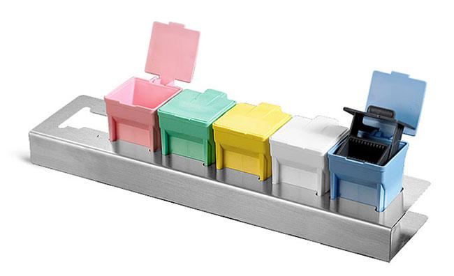 Microscopy Supplies, Stainless Steel Holder for EasyDip Slide Staining Jars