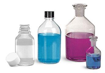 Non-Graduated Glass Media Bottles