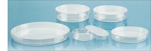 Non-Grid Polystyrene Petri Dishes