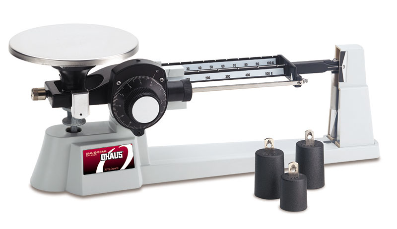 Ohaus Scales,Triple Beam Balance, Stainless Steel Plate & Attachment Weights