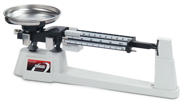 Ohaus Scales, Triple Beam Balance, Stainless Steel Pan and Tare Beam
