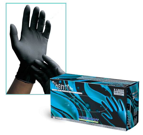 Latex Gloves, Black Latex Gloves, Powder Free Latex Gloves