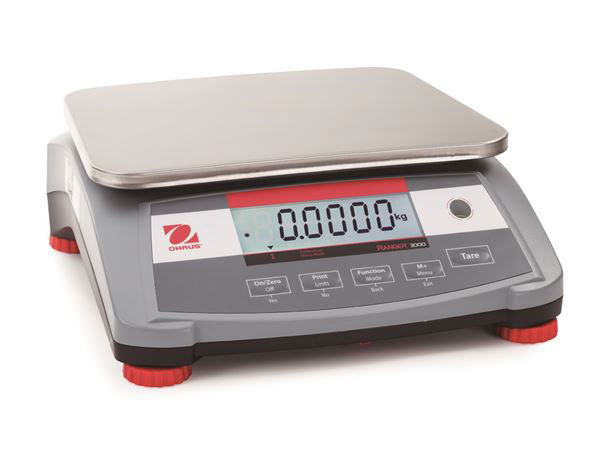 60 lb Capacity  Ohaus Scale, Ranger 3000™ Compact Bench Scale