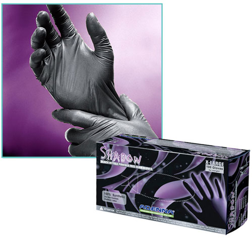 Nitrile Gloves, Powder Free Black Nitrile Gloves