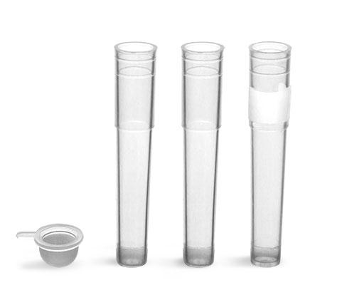 Test Tubes, Biotube™, Natural Polypropylene Cluster Tubes w/ Plastic Caps