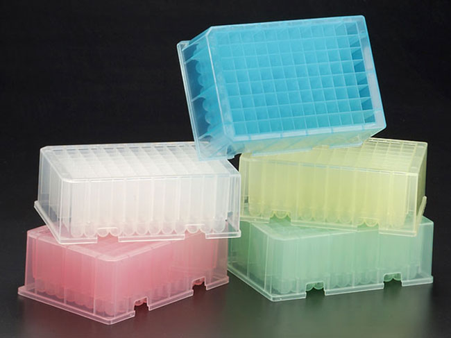 Cell Culture Plates, BioBlock™ 96-Well Color-Coded Microtitration Plates w/ 2.2 ml Round Bottom Wells