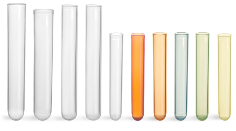 Plastic Test Tubes, Non Sterile Disposable Polypropylene Culture Tubes