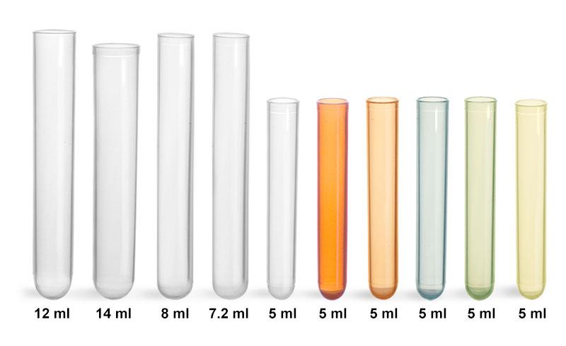 Plastic Test Tubes, Non Sterile Disposable Polypropylene Culture Tubes