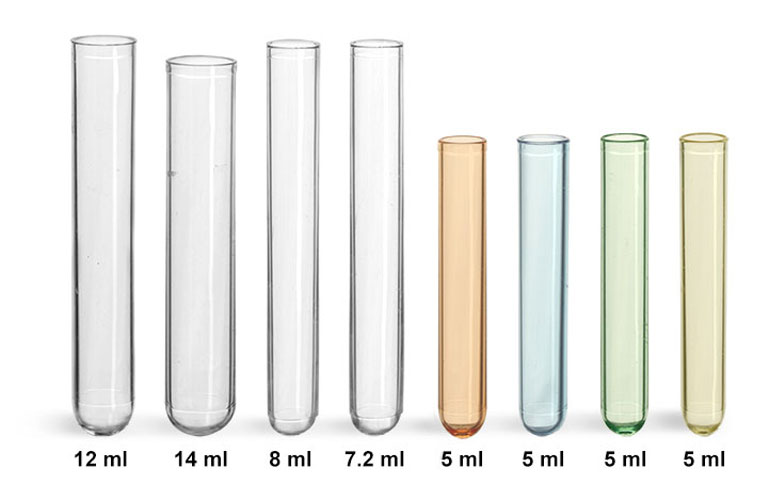 Plastic Test Tubes, Non Sterile Disposable Polystyrene Culture Tubes