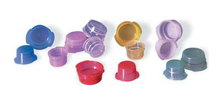 Plastic Caps, VacuCap LDPE Stoppers for Plastic Culture Tubes