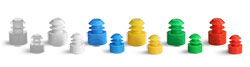 Test Tubes Stoppers, PE Flange Plug Caps For Plastic Test Tubes