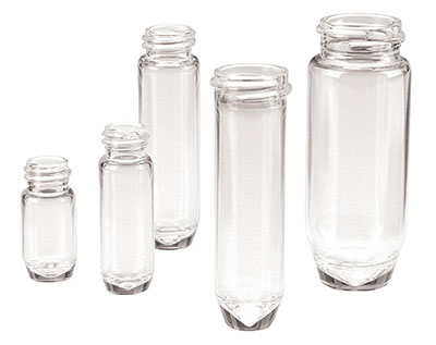 Glass Lab Vials, Clear Glass E-Z Ex-Traction High Recovery Vials w/ No Caps Included