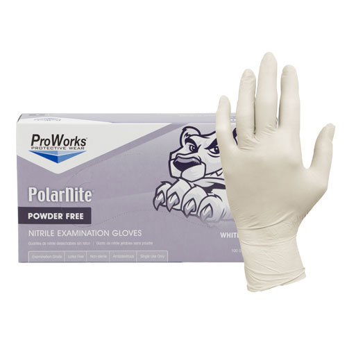 Nitrile Gloves, White Nitrile Gloves, Powder Free