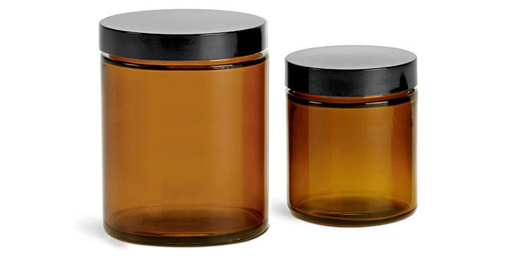 Amber Glass Jars