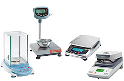 full line of ohaus digital scales