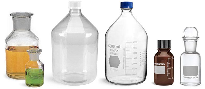 Glass Media Bottles