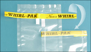 Whirl-Pak, Sample Bag: Features