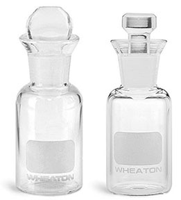 Glass BOD Bottles with Writing Areas